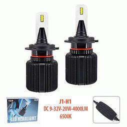 Лампы PULSO J1/H1/LED-chips CSP/9-32v2*20w/4000Lm/6500K (J1-H1)