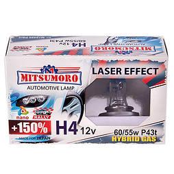 Автолампа MITSUMORO Н4 12v   60/55w P43t +150 laser effect (ближний, дальний) (M72420 PS/2)