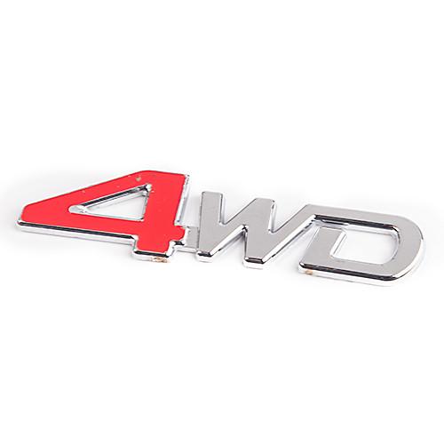 """Надпись """"4 WD"""" (4-красное) (127х32)"""