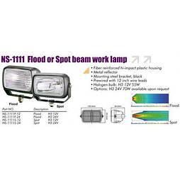 Фары рабочего света NS-1111F-12 H3/12V/55W/156*95mm (NS-1111Flood-12)