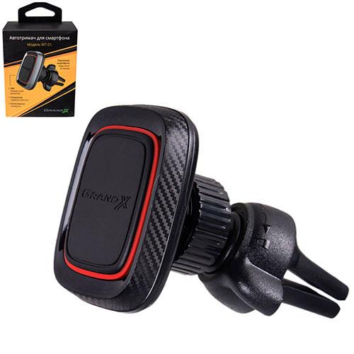 Держатель мобильного телефона Grand-X (магнитный на дефлектор) МТ-01 (МТ-01)