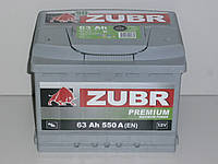 Аккумулятор Zubr Premium (Зубр) 63 Ah  500 А