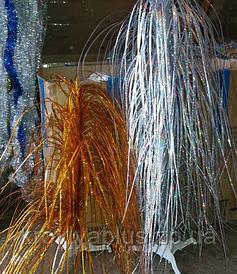 Новогоднее украшение Фонтан золотистый/ серебристый h=100см