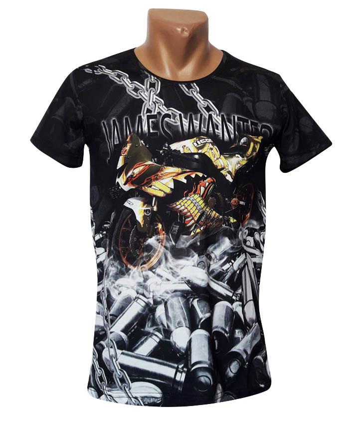Дизайнерская черная футболка Mastiff - №4954