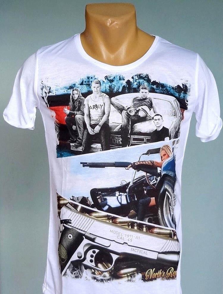 Мужская обтягивающая футболка North's Republic - №1077