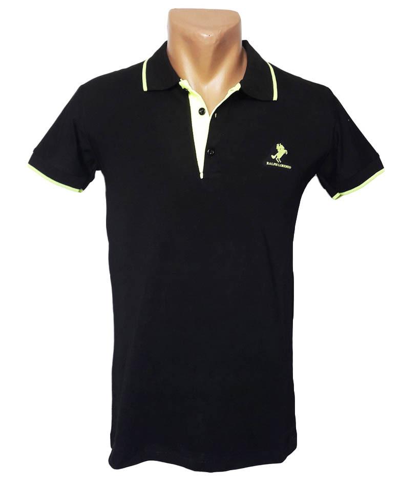 Черная футболка Поло Sport Line - №4961