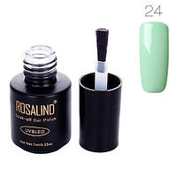 Гель-лак для ногтей маникюра 7мл Rosalind, шеллак, 24 мятный