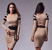 Женское платье из дайвинга с тремя полосками