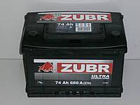Аккумулятор Zubr Ultra (Зубр) 74 Ah  680 А, фото 1