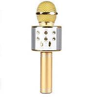 Микрофон караоке беспроводной с колонкой Bluetooth USB WS-858, ТЕМБР