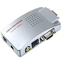 PC - TV конвертер 3в1 VGA - RCA AV + S-Video + VGA
