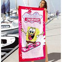 Красивые полотенца Sponge Bob - №1638