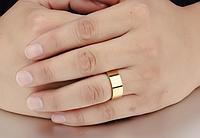 Мужское позолоченное кольцо из стали, р. 18