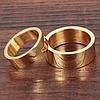 """Парные кольца """"На помолвку"""" стальные позолоченные, жен. 15.7, 16.5, 18,муж. 18"""