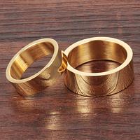 """Парные кольца """"На помолвку"""" стальные позолоченные, жен. 15.7, 16.5, 17.3,  муж. 18.0, 19.0"""