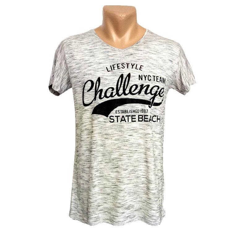 Стильная серая футболка Sport Line - №2249