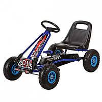 Машина педальная велокарт Bambi Формула 01-4 Синий (01-4)