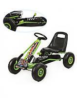 Машина педальная велокарт Bambi Формула 01 -5 Зеленая (01-5)