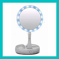 Зеркальце с подсветкой для макияжа flod mirror