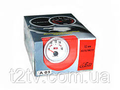 Вольтметр стрелочный 7701(А 01) LED d52мм
