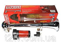 Сигнал 1-дудка возд. CA-13036 Elephant 12V металл хром 360mm с компрессором