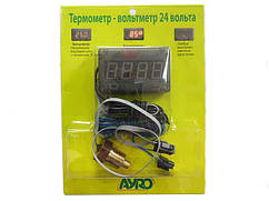 Температура двигателя + вольтметр 24 вольта