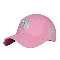 Красивая розовая кепка NY  SGS - №3024