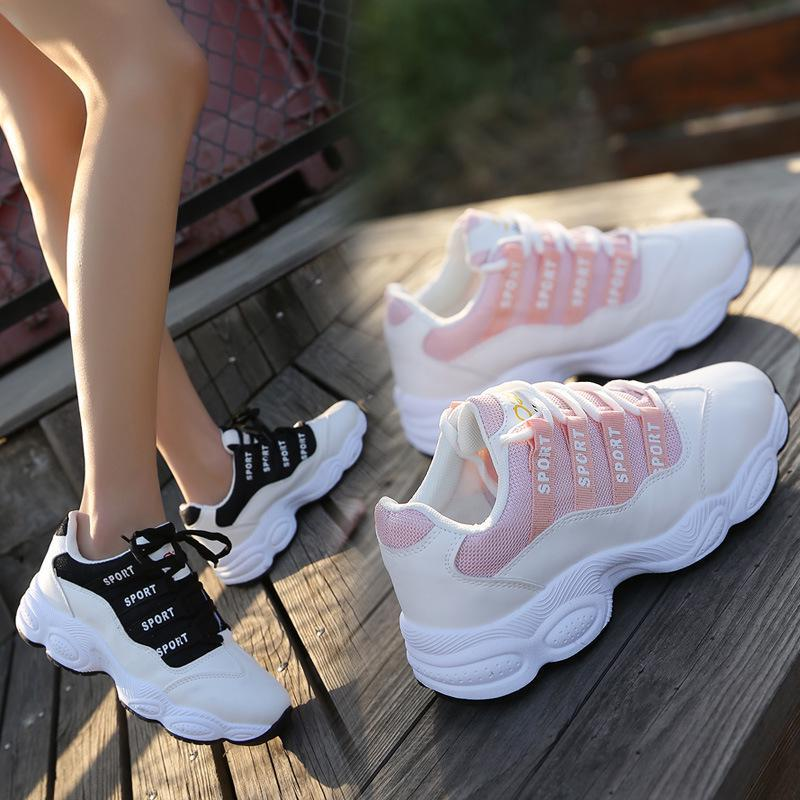 Стильные женские кроссовки на высокой подошве, 36 - 39
