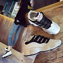 Стильные женские кроссовки на высокой подошве, 36 - 39, фото 3