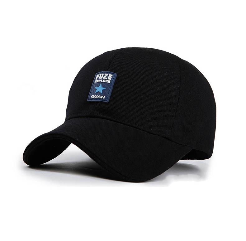 Черная бейсболка Fuze SGS - №4105