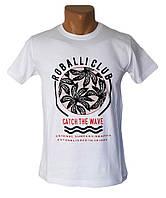 Белая длинная футболка Sport Line - №4174