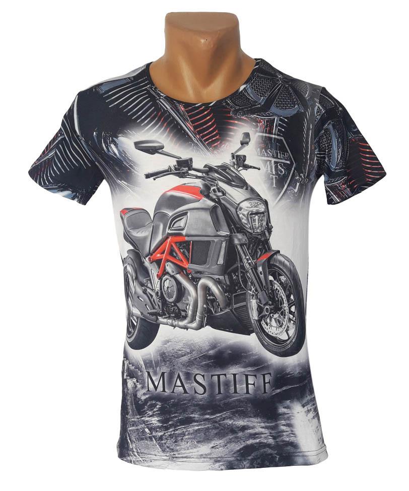 Облегающая серая футболка Mastiff - №4181