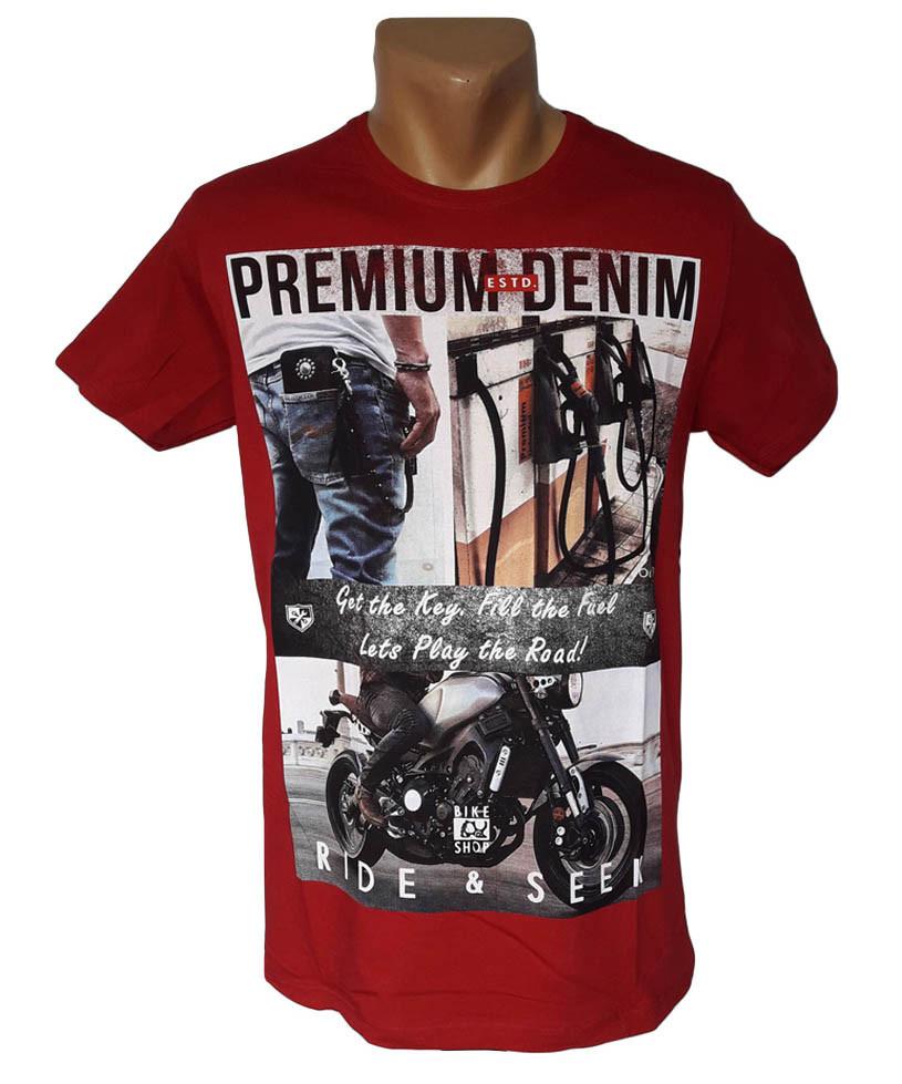 Красная футболка Highlander - №4245