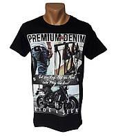 Трикотажная черная футболка Highlander - №4247