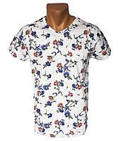 Мужская футболка с цветами WDR - №4252