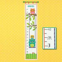 """70-73700 Набор для вышивания крестом """"Owl Growth Chart//Ростомер Совушки"""" DIMENSIONS"""