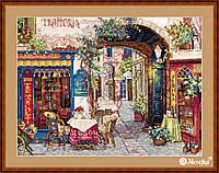 """K-161 Набор для вышивания крестом """"Кафе в Вероне"""" Мережка"""