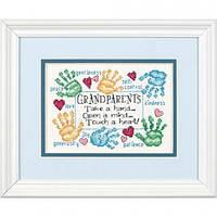 "65011 Набор для вышивания крестом ""Дедушке с бабушкой//Grandparets Touch a Heart"" DIMENSIONS"