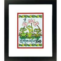 """70-65148 Набор для вышивания крестом """"Жабья парковка//Frog Parking"""" DIMENSIONS"""