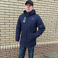 Удлиненная мужская куртка демисезонная большие размеры