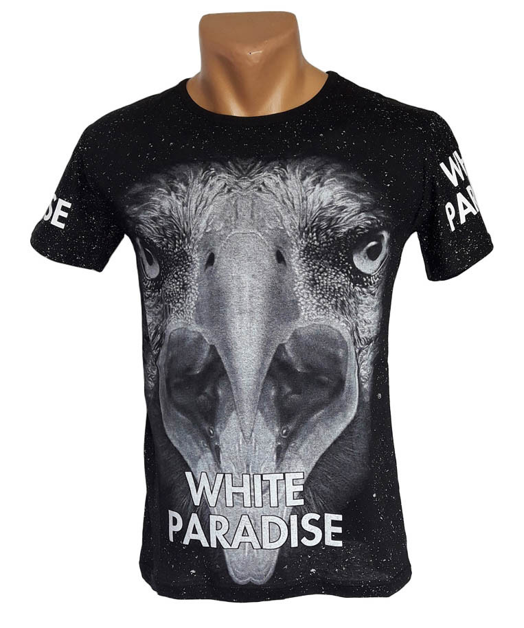 Мужская футболка White Paradise - №4348