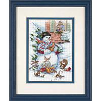 """08801 Набор для вышивания крестом """"Снеговик и друзья//Snowman & Friends"""" DIMENSIONS"""