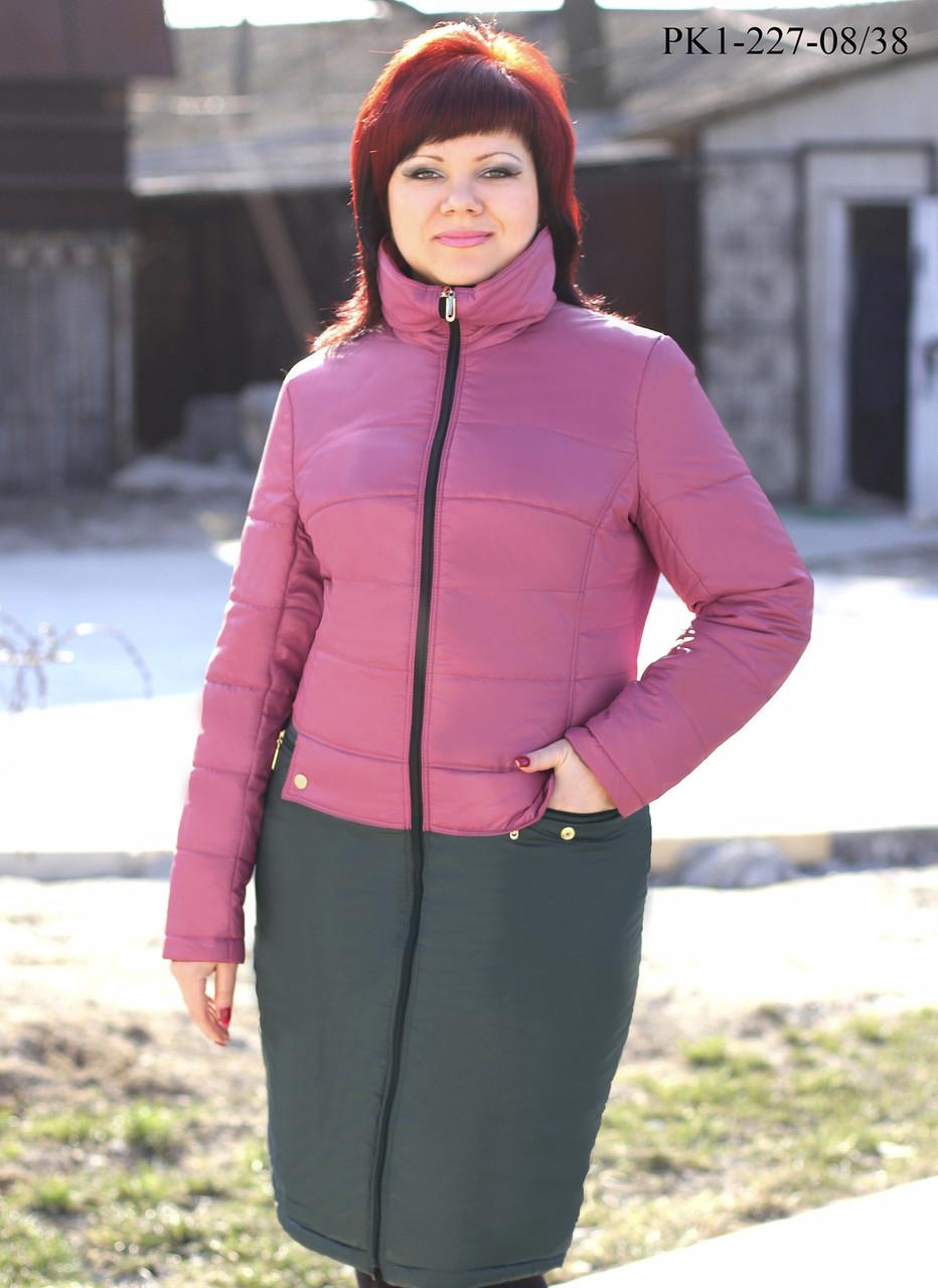 Женское пальто из плащевки на осень размер 44,46