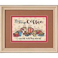 """65019 Набор для вышивания крестом """"Достаточно кофе//Enough Coffee"""" DIMENSIONS"""