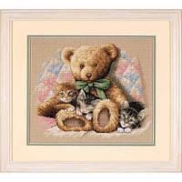 "35236 Набор для вышивания крестом ""Тедди и котята//Teddy & Kittens"" DIMENSIONS"