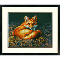 """70-35318 Набор для вышивания крестом """"Лиса освещенная солнцем//Sunlit Fox"""" DIMENSIONS"""