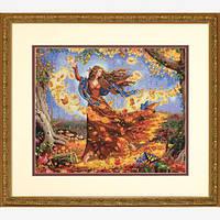 "70-35262 Набор для вышивания крестом ""Фея осени//Fall Fairy"" DIMENSIONS"