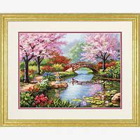 """70-35313 Набор для вышивания крестом """"Японский сад//Japanese Garden"""" DIMENSIONS"""
