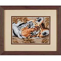 """65056 Набор для вышивания крестом """"Красивый тигр//Beguiling Tiger"""" DIMENSIONS"""