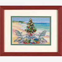 "70-08832 Набор для вышивания крестом ""Рождество на пляже//Christmas on the Beach"" DIMENSIONS"